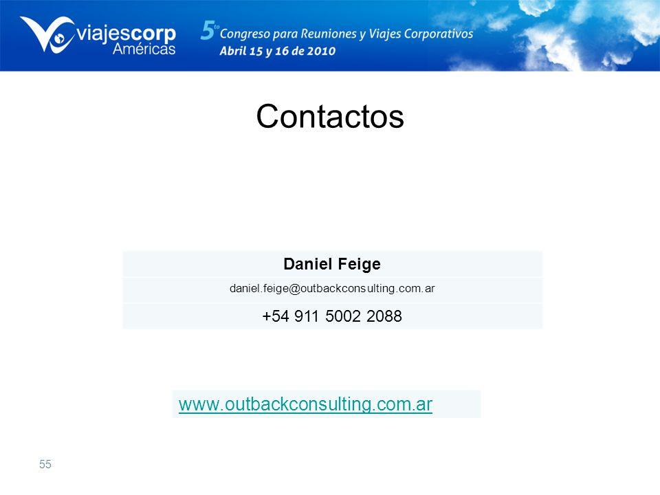 55 Daniel Feige daniel.feige@outbackconsulting.com.ar +54 911 5002 2088 www.outbackconsulting.com.ar Contactos