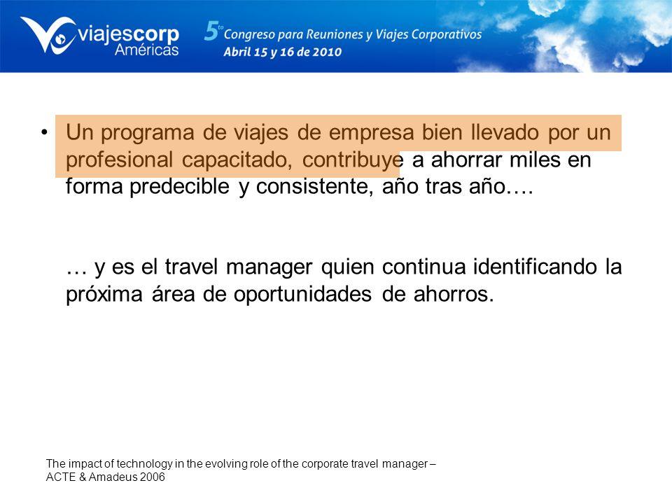 Función extendida Travel Manager: gestión de la demanda, especialista en sustentabilidad, expertos en gestión de gastos, actuarios y estrategas de la comunicación.