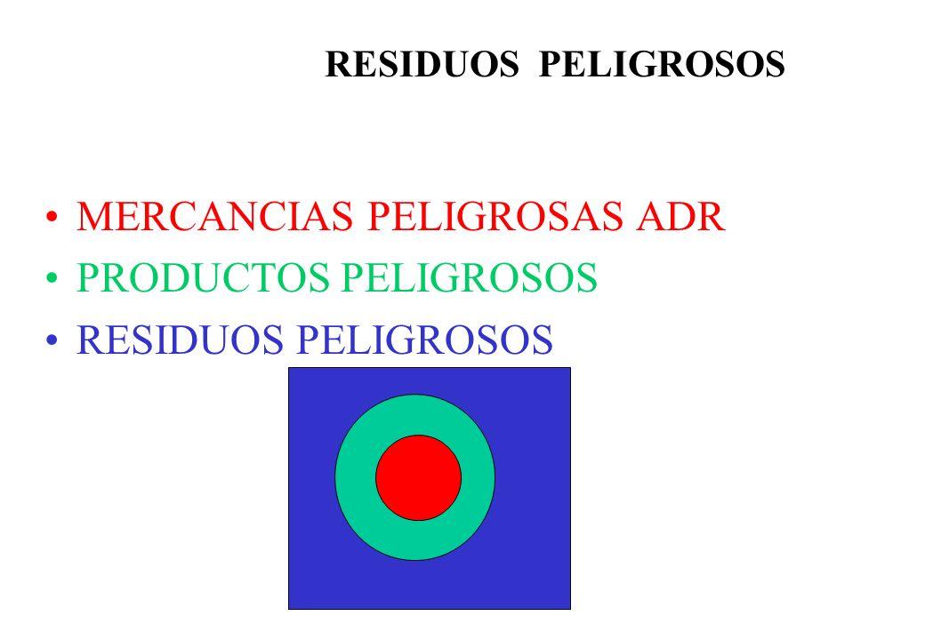 MERCANCIAS PELIGROSAS ADR PRODUCTOS PELIGROSOS RESIDUOS PELIGROSOS