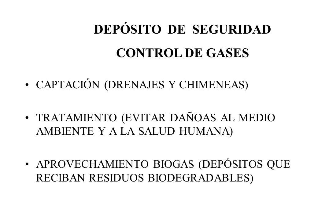 CAPTACIÓN (DRENAJES Y CHIMENEAS) TRATAMIENTO (EVITAR DAÑOAS AL MEDIO AMBIENTE Y A LA SALUD HUMANA) APROVECHAMIENTO BIOGAS (DEPÓSITOS QUE RECIBAN RESID