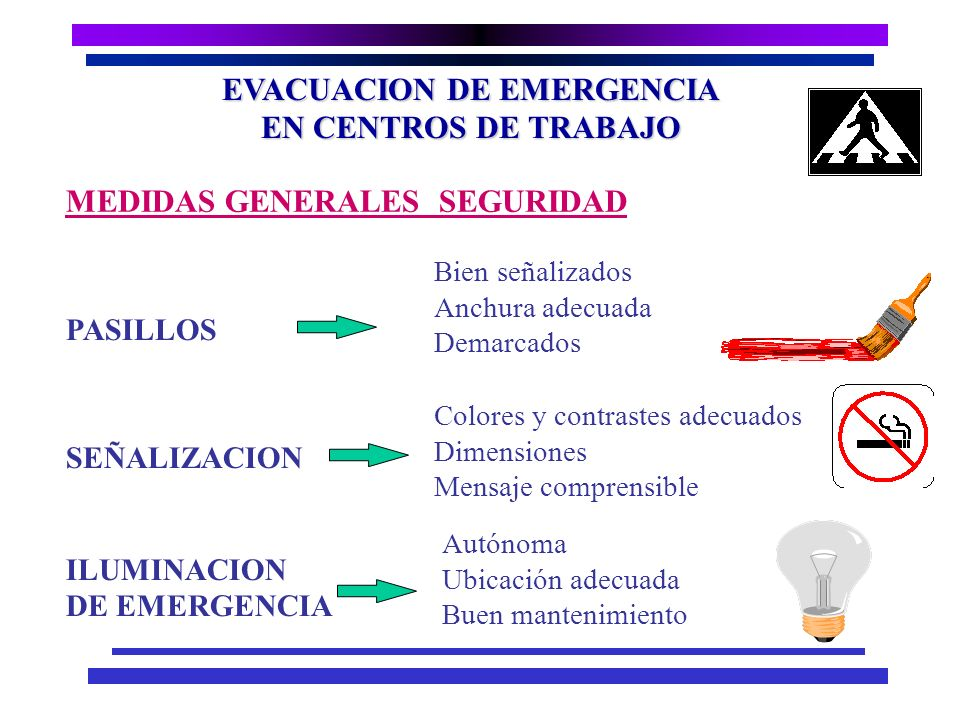 EVACUACION DE EMERGENCIA EN CENTROS DE TRABAJO n Dispositivo que permite comunicar al personal una condición peligrosa, a fin de tomar las acciones y