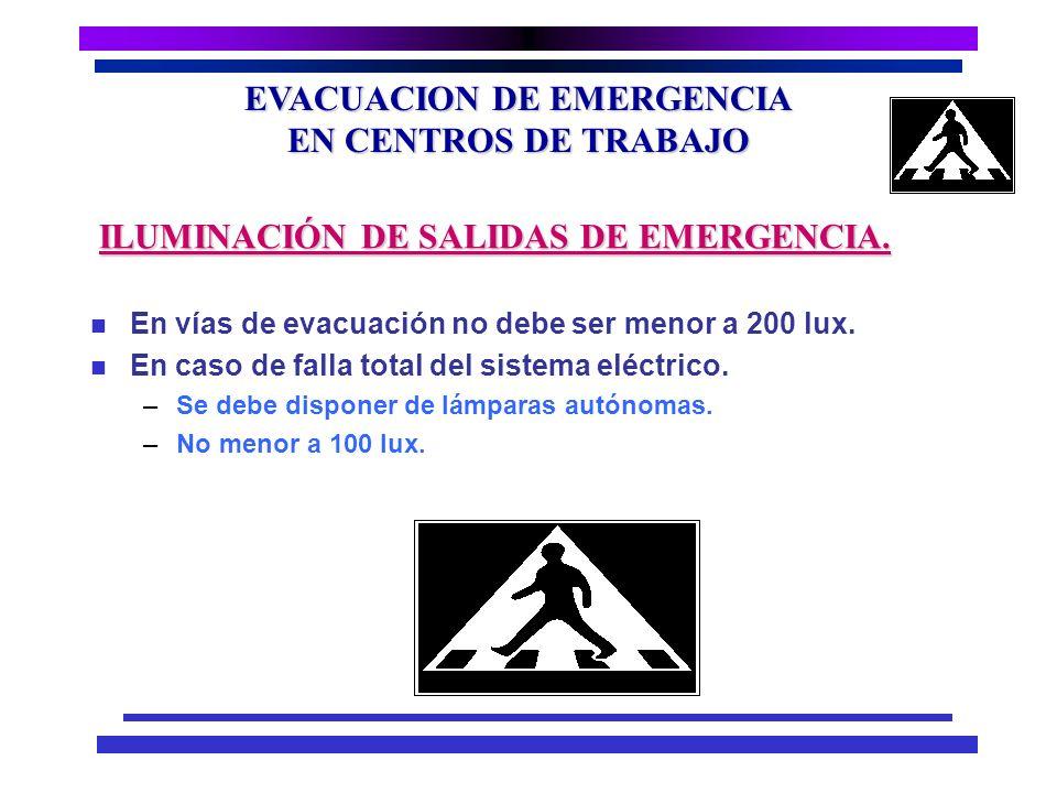 EVACUACION DE EMERGENCIA EN CENTROS DE TRABAJO n Conjunto de indicaciones que mediante una serie de estímulos condicionan, la actuación del individuo,