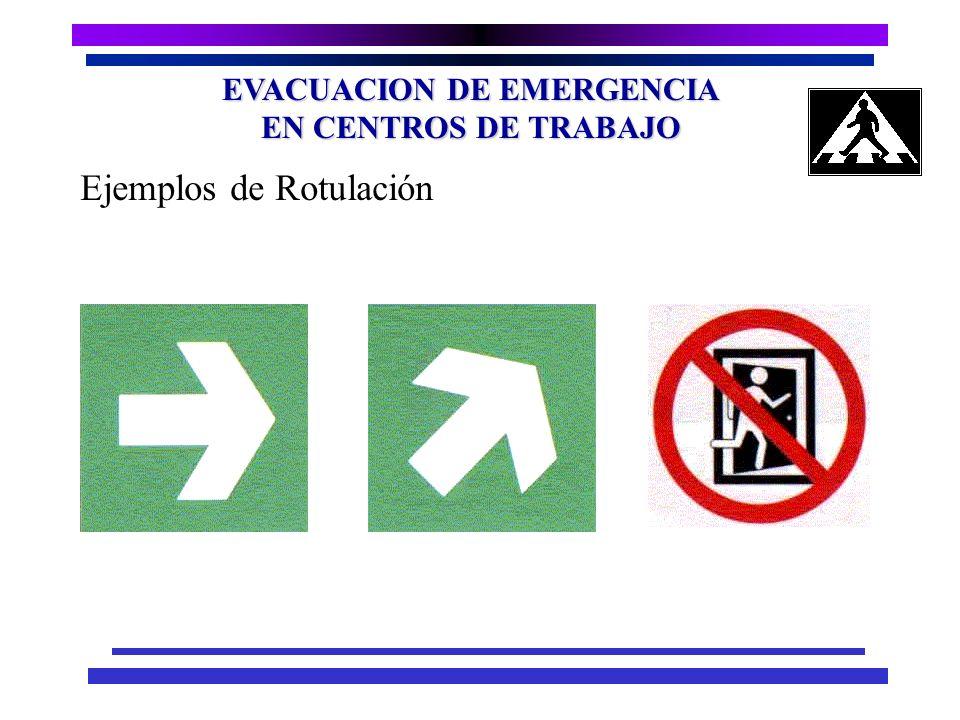 EVACUACION DE EMERGENCIA EN CENTROS DE TRABAJO Unidad de Anchura.. 60 centímetros. Velocidad de Circulación.. Horizontal 45 personas por minuto, por u