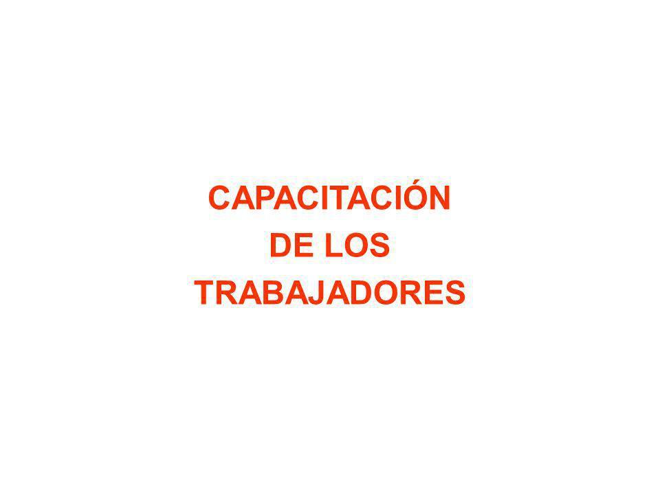 CAPACITACIÓN DE LOS TRABAJADORES