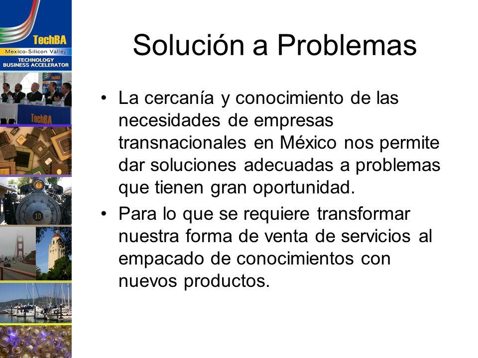 Solución a Problemas La cercanía y conocimiento de las necesidades de empresas transnacionales en México nos permite dar soluciones adecuadas a proble