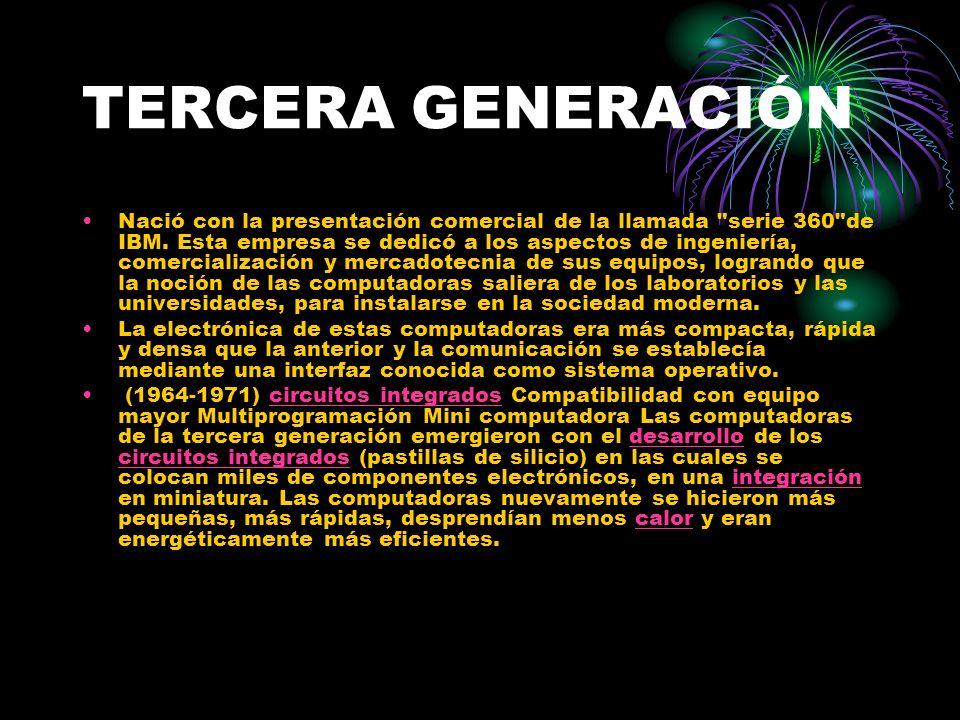 TERCERA GENERACIÓN Nació con la presentación comercial de la llamada