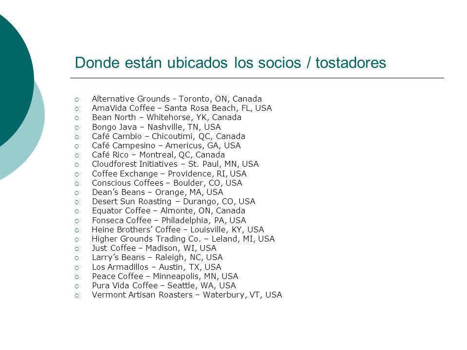 De Donde Compramos el Café Actualmente Mexico: Chiapas - Mut Vitz, Yachil, Maya Vinic, Selva Negra; Oaxaca - MICHIZA Guatemala: APECAFORM, St.