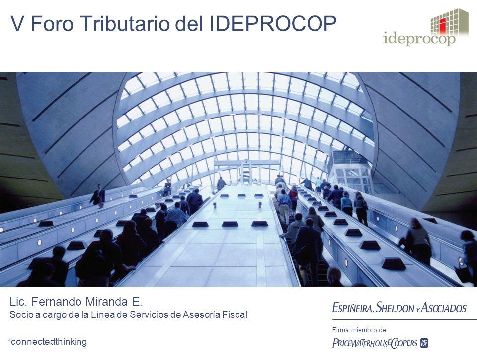 *connectedthinking Firma miembro de V Foro Tributario del IDEPROCOP Lic.