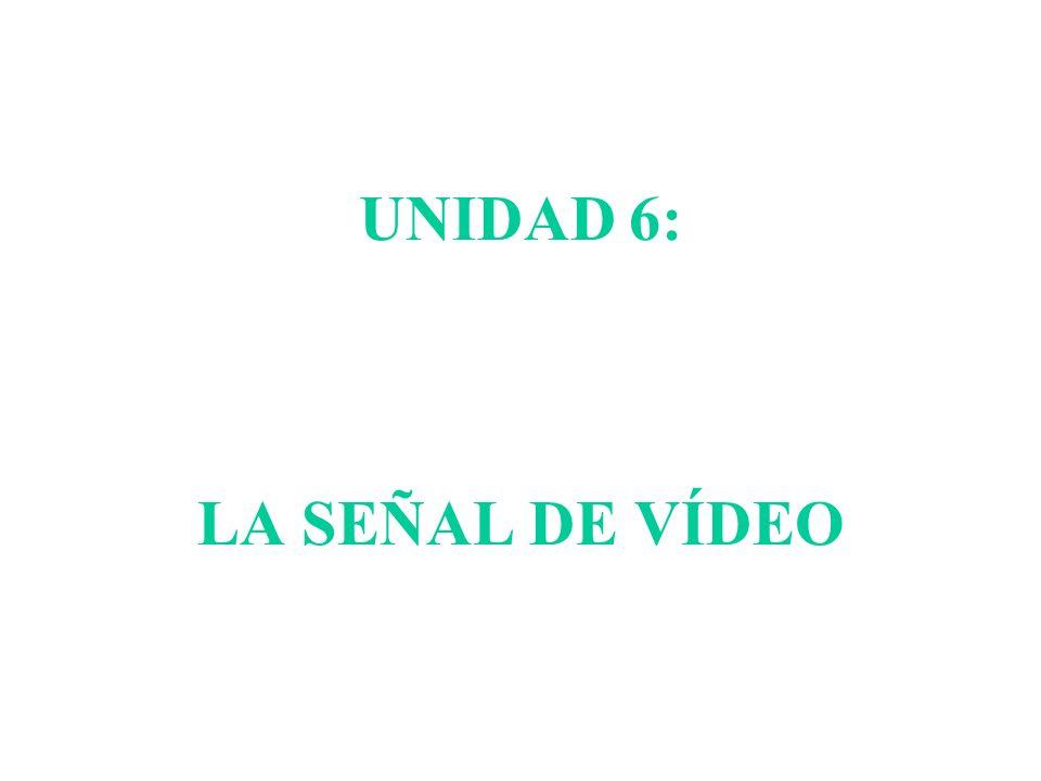 UNIDAD 6: LA SEÑAL DE VÍDEO