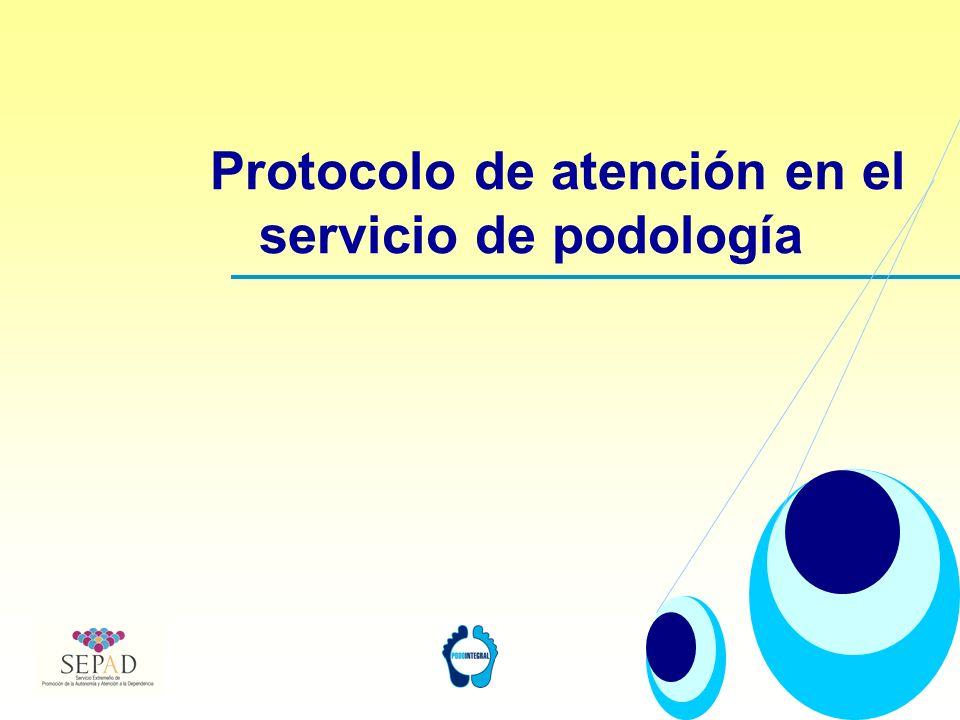 Protocolo de atención en el servicio de podología