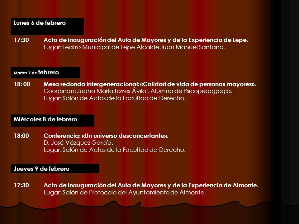 19:00«Presencias Literarias» D.Lorenzo Silva. Lugar: Salón de Actos de la Facultad de Derecho.