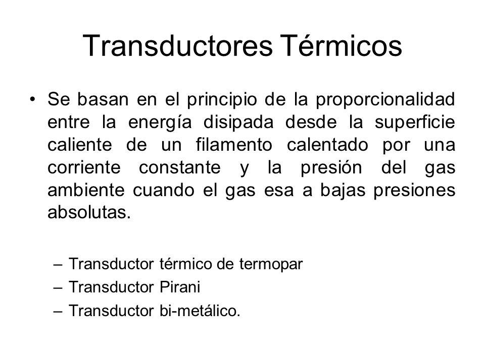 Transductor térmico de termopar Contiene un filamento en V que lleva incorporado un pequeño termopar.