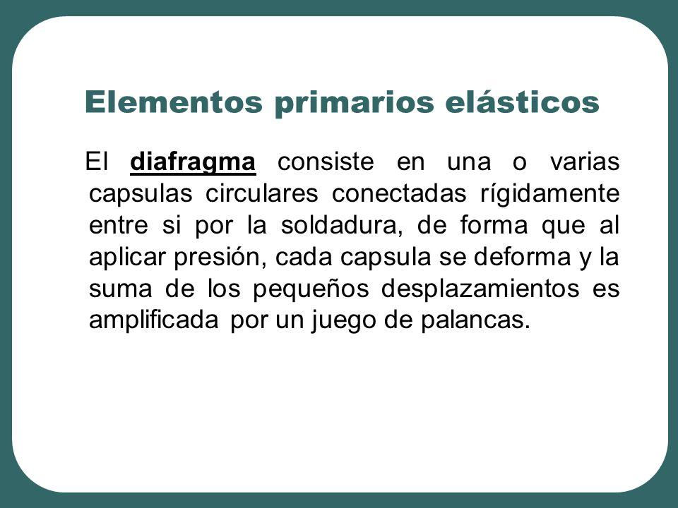 Elementos primarios elásticos El diafragma consiste en una o varias capsulas circulares conectadas rígidamente entre si por la soldadura, de forma que