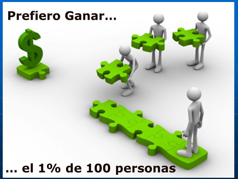 … el 1% de 100 personas Prefiero Ganar…