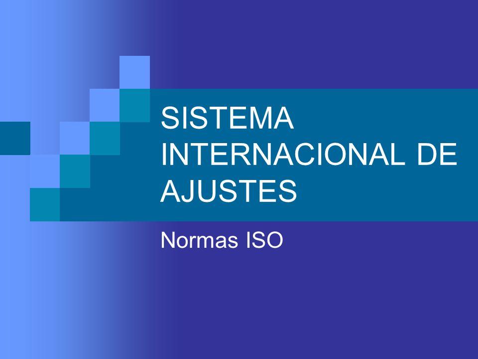 SISTEMA INTERNACIONAL DE AJUSTES Normas ISO