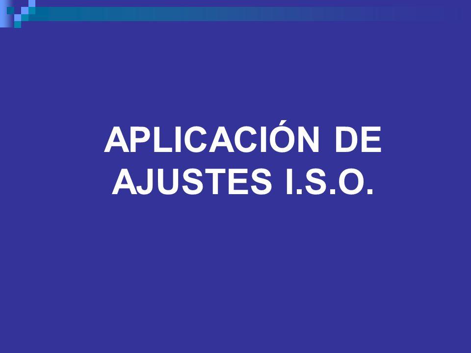 APLICACIÓN DE AJUSTES I.S.O.