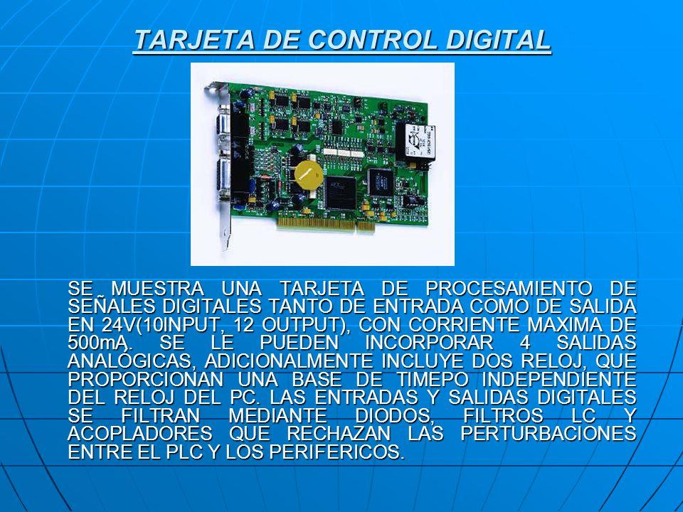 TARJETA DE CONTROL DIGITAL SE MUESTRA UNA TARJETA DE PROCESAMIENTO DE SEÑALES DIGITALES TANTO DE ENTRADA COMO DE SALIDA EN 24V(10INPUT, 12 OUTPUT), CO