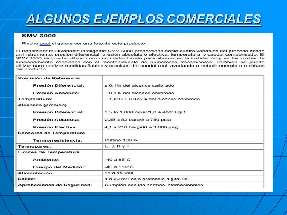 ALGUNOS EJEMPLOS COMERCIALES