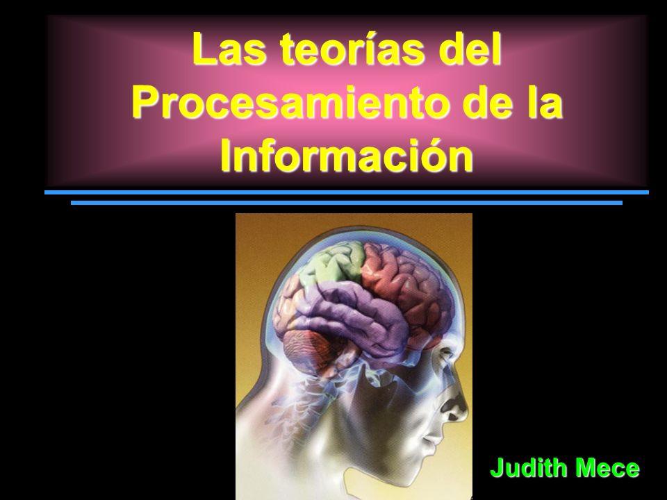 Las teorías del Procesamiento de la Información Judith Mece