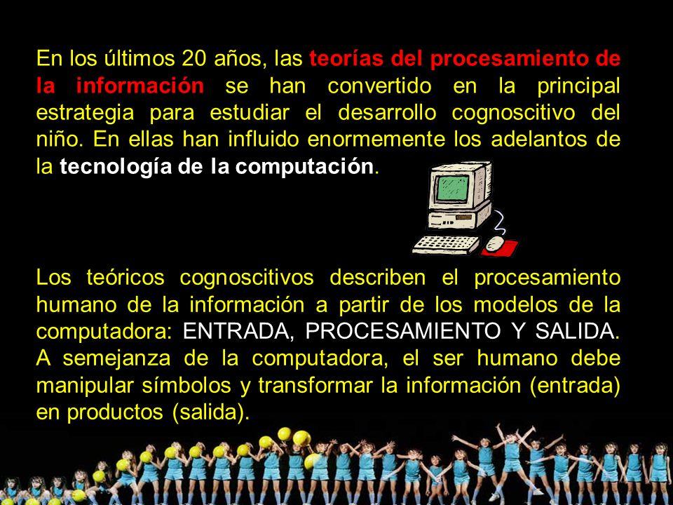 En los últimos 20 años, las teorías del procesamiento de la información se han convertido en la principal estrategia para estudiar el desarrollo cogno