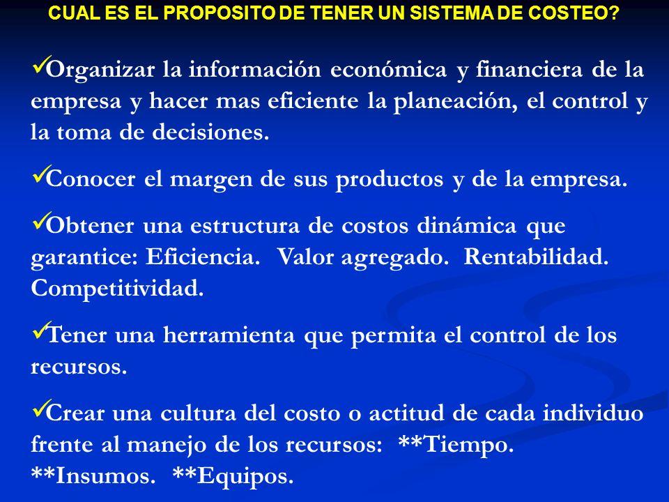 UTILIDAD DE LOS COSTOS EN LA EMPRESA 1.Sirven de base para fijar y/o controlar precios de venta.