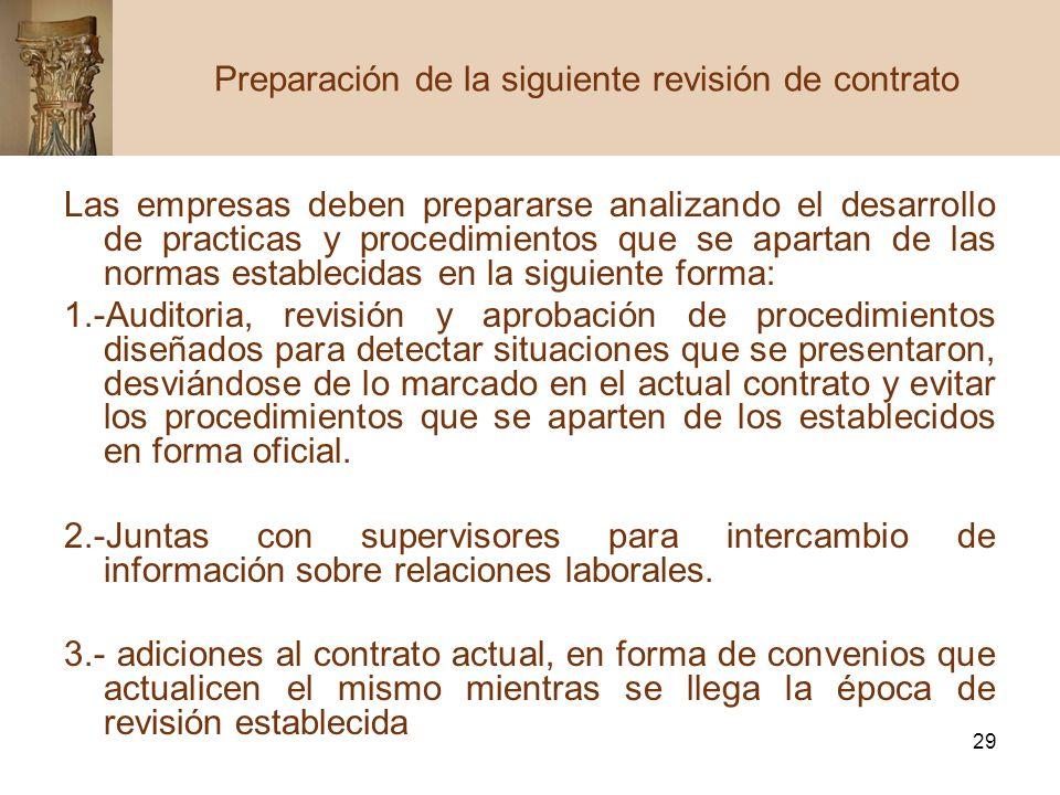 29 Las empresas deben prepararse analizando el desarrollo de practicas y procedimientos que se apartan de las normas establecidas en la siguiente form