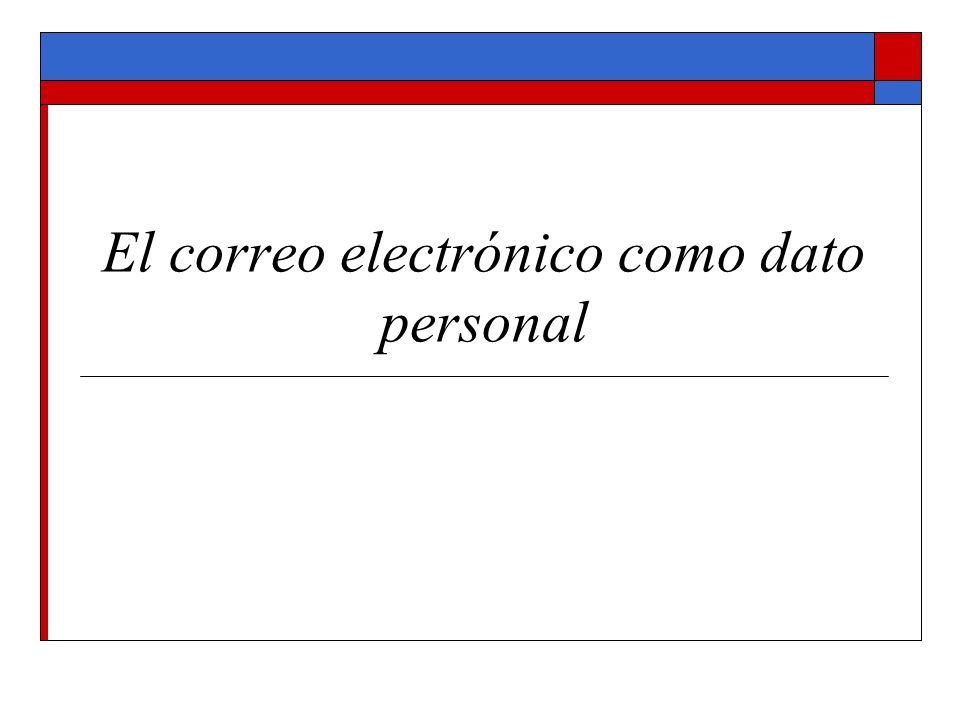 El correo electrónico como dato personal