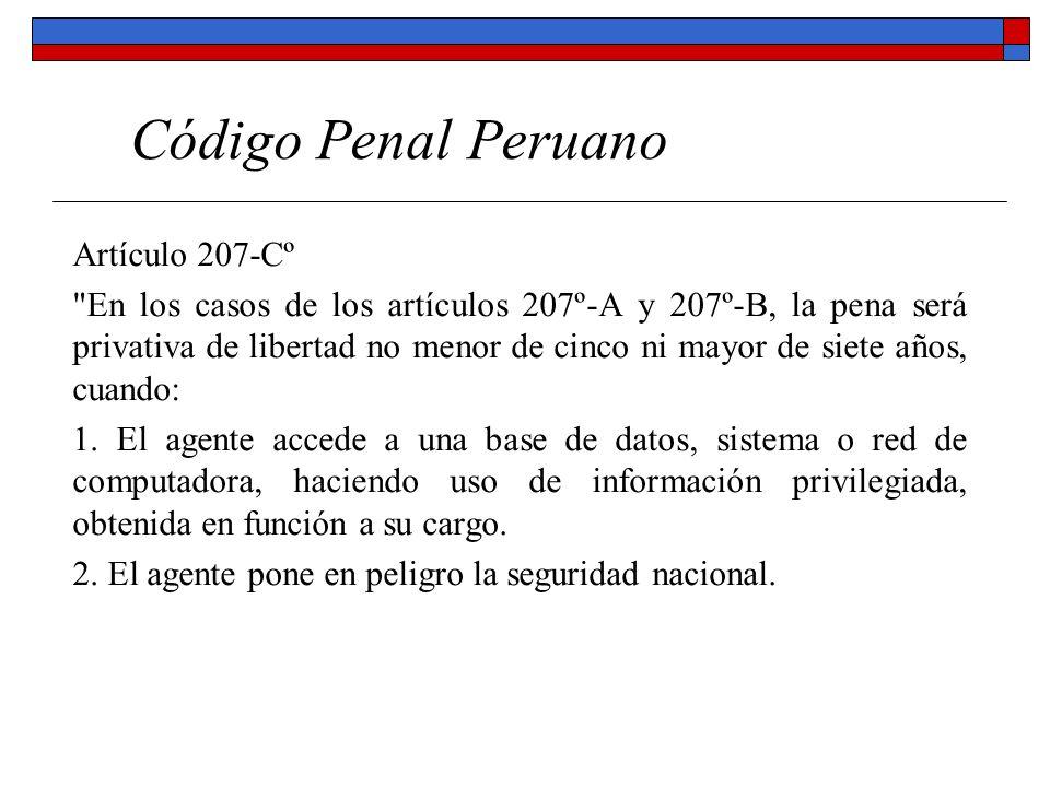 Código Penal Peruano Artículo 207-Cº