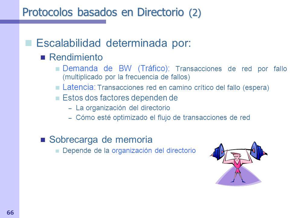 67 Centralizado Distribuido Esquemas de Directorio Organización del Directorio (1) Jerárquico Plano Como Encontrar la Información de Directorio: Basados en Mem.