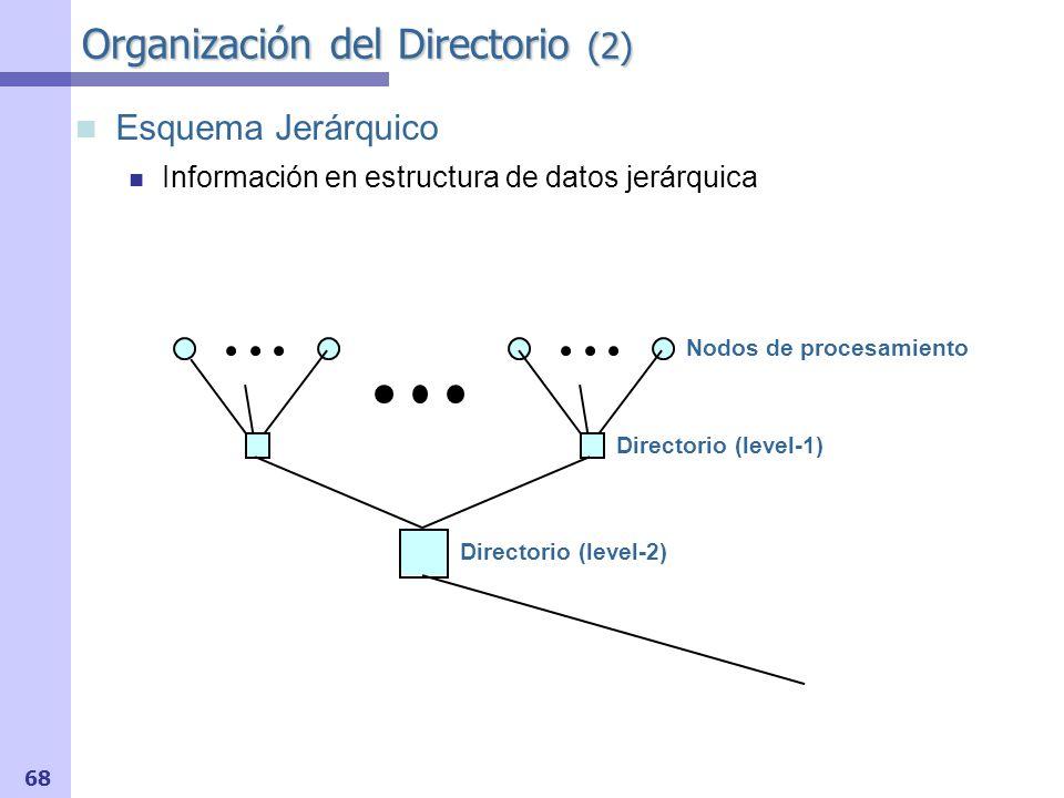 69 Organización del Directorio (3) Ventajas de directorios jerárquicos Fallo a bloque con origen lejano: Más rápido Problemas Transacciones más numerosas que en directorios planos Requisitos de latencia y ancho de banda mucho mayores