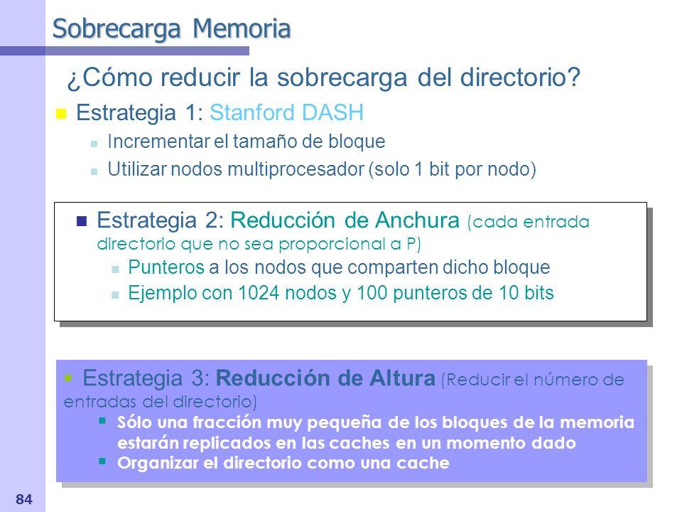 85 Posible mejora en protocolo basado en memoria Intervention & Reply Forwarding: Obtener Bloque Modificado Reducción del número de mensajes (de 5 a 4) Reducción de mensajes en camino crítico (de 4 a 3).