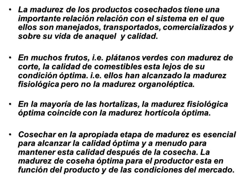 DETERMINACION DE LA MADUREZ Búsqueda continua por objectivos, métodos no destructivos para determinar la madurez en cultivos hortícolas.