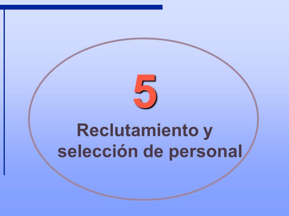 5 Reclutamiento y selección de personal