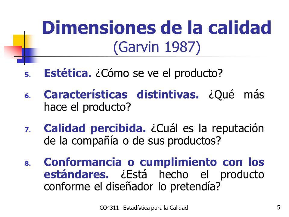 5 5. Estética. ¿Cómo se ve el producto? 6. Características distintivas. ¿Qué más hace el producto? 7. Calidad percibida. ¿Cuál es la reputación de la