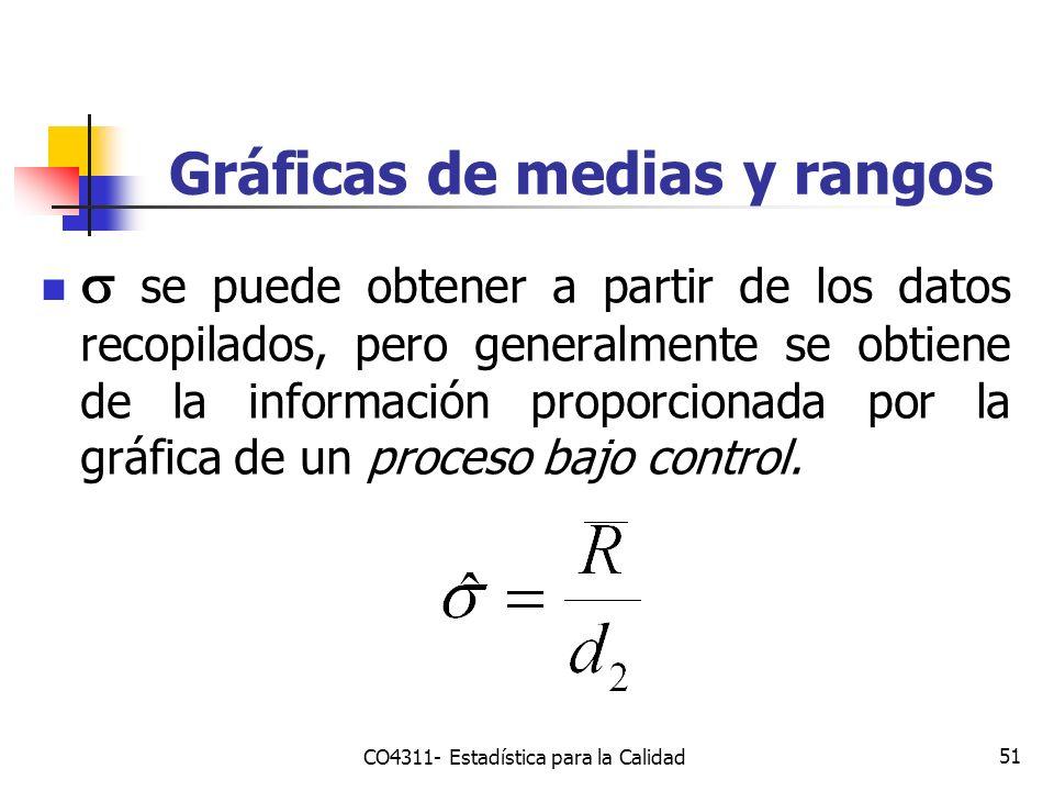 51 se puede obtener a partir de los datos recopilados, pero generalmente se obtiene de la información proporcionada por la gráfica de un proceso bajo