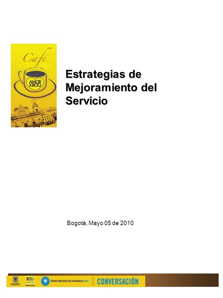 Estrategias de Mejoramiento del Servicio Bogotá, Mayo 05 de 2010
