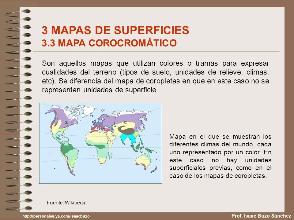 Son aquellos mapas que utilizan colores o tramas para expresar cualidades del terreno (tipos de suelo, unidades de relieve, climas, etc). Se diferenci