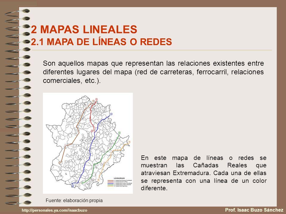 2 MAPAS LINEALES 2.1 MAPA DE LÍNEAS O REDES Son aquellos mapas que representan las relaciones existentes entre diferentes lugares del mapa (red de car