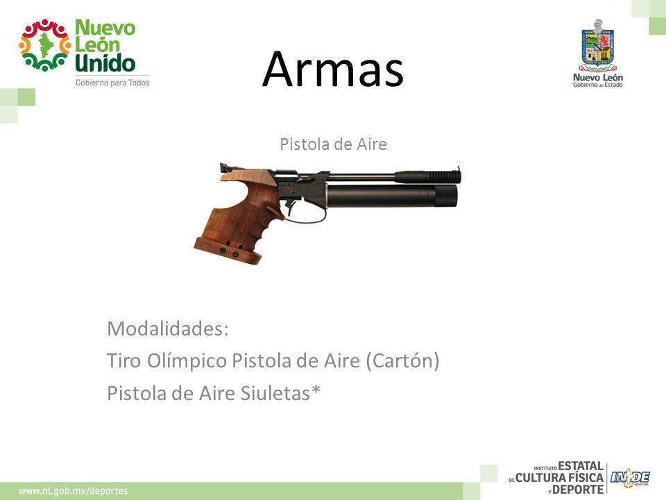 Armas Pistola de Aire Modalidades: Tiro Olímpico Pistola de Aire (Cartón) Pistola de Aire Siuletas* 11