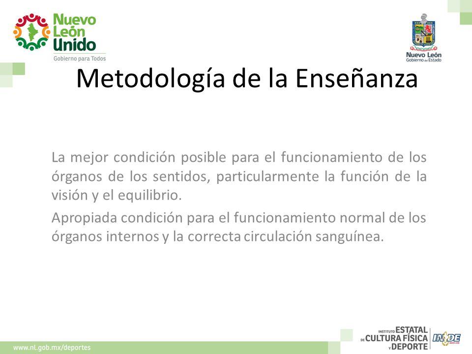 Metodología de la Enseñanza La mejor condición posible para el funcionamiento de los órganos de los sentidos, particularmente la función de la visión