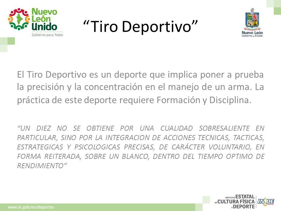 Tiro Deportivo El Tiro Deportivo es un deporte que implica poner a prueba la precisión y la concentración en el manejo de un arma. La práctica de este