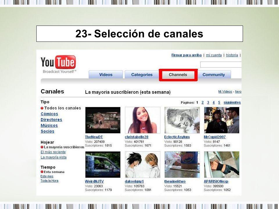 23- Selección de canales