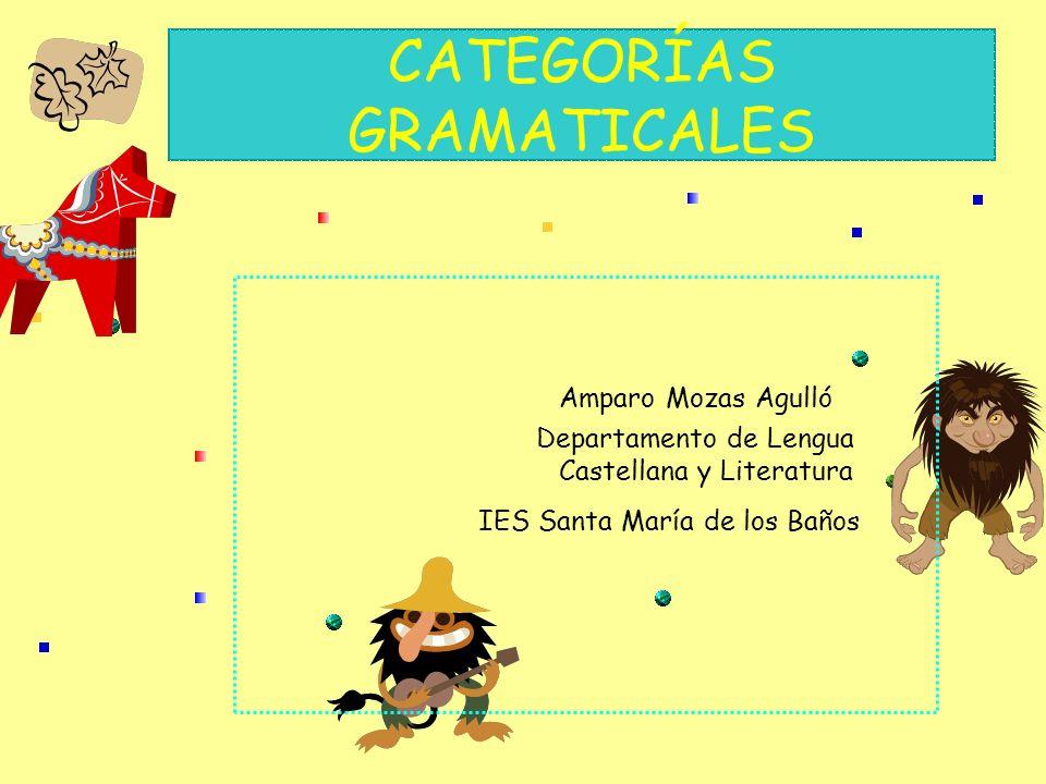 CATEGORÍAS GRAMATICALES Amparo Mozas Agulló Departamento de Lengua Castellana y Literatura IES Santa María de los Baños