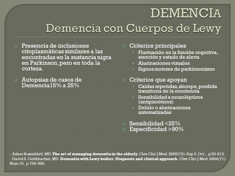 David S.Geldmacher, MD. Dementia with Lewy bodies: Diagnosis and clinical approach.
