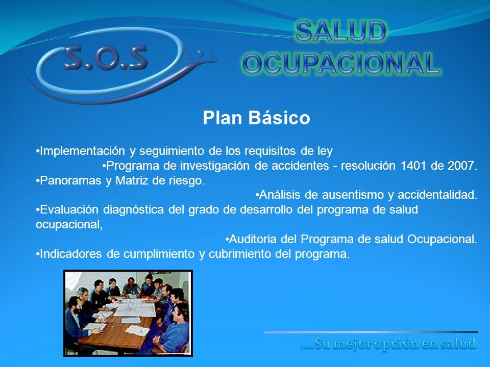 Plan Básico Implementación y seguimiento de los requisitos de ley Programa de investigación de accidentes - resolución 1401 de 2007. Panoramas y Matri