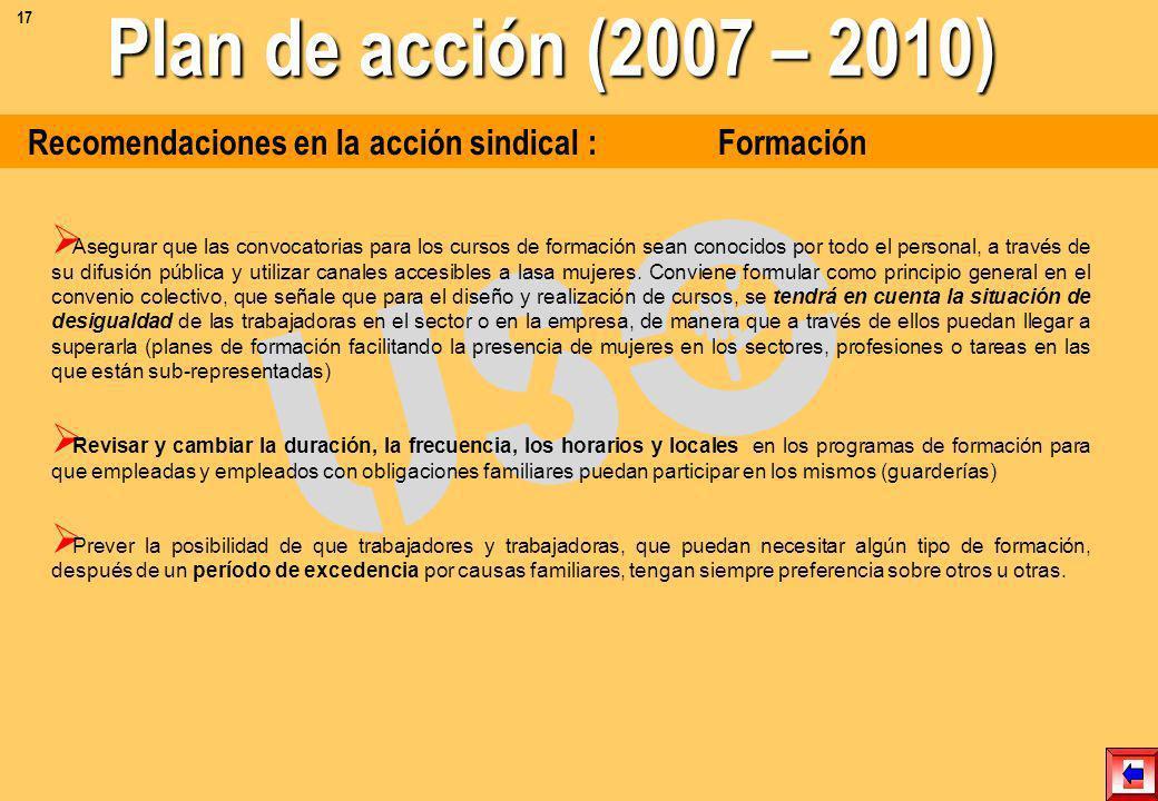 Recomendaciones en la acción sindical : Condiciones salariales, Grupos profesionales y Retribución Valoración de los grupos profesionales: se calcula