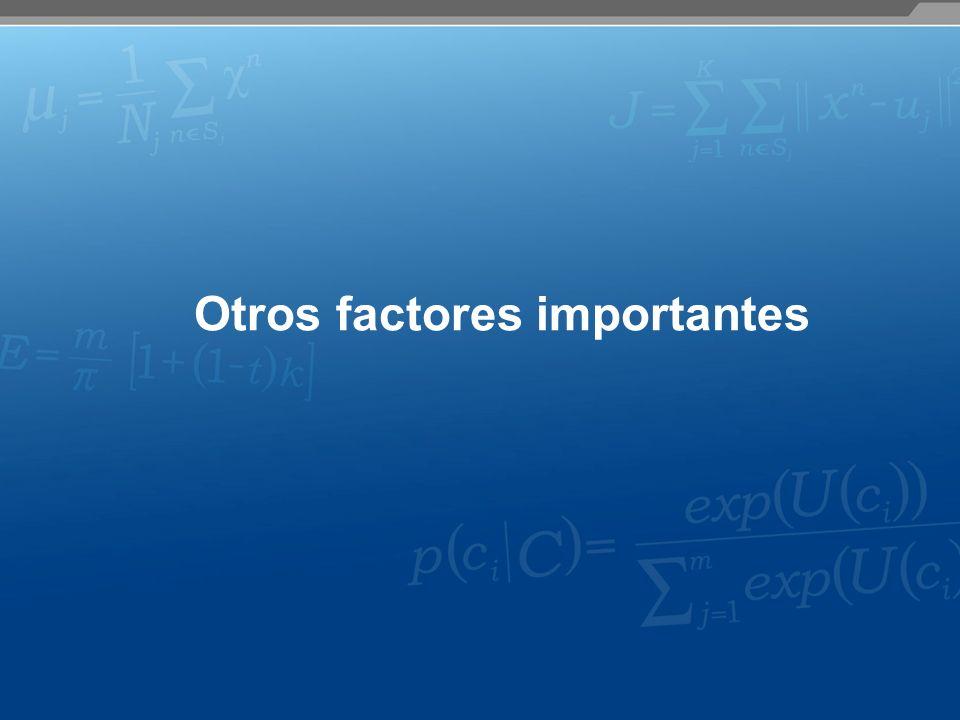 Otros factores importantes
