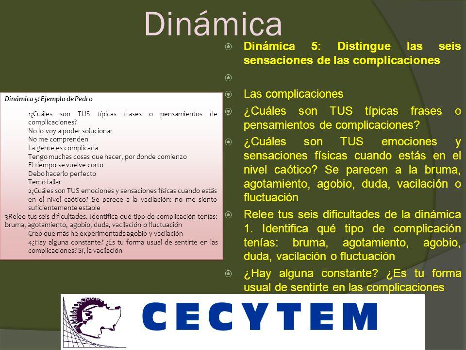 Sensaciones ABRUMADO AGOTADO DUDA VACILAN FLUCTUANTES