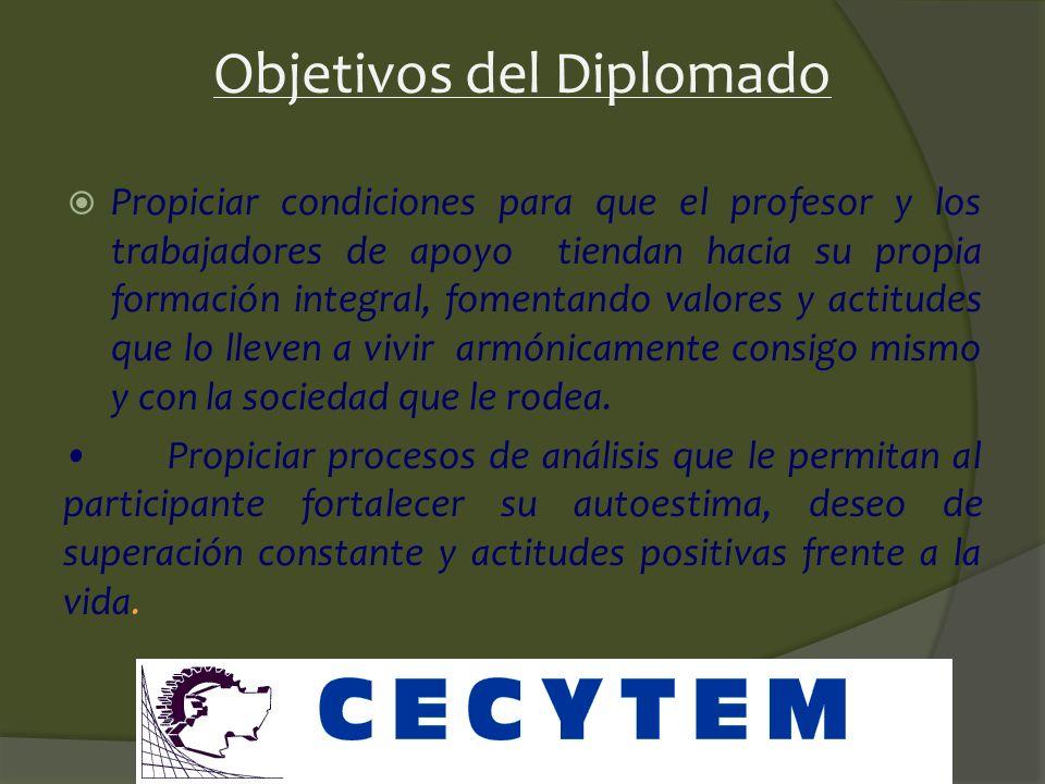 Objetivos del Diplomado Aplicar el logro de estas competencias en los procesos de su trabajo docente y de las relaciones que ahí se establecen, siempr