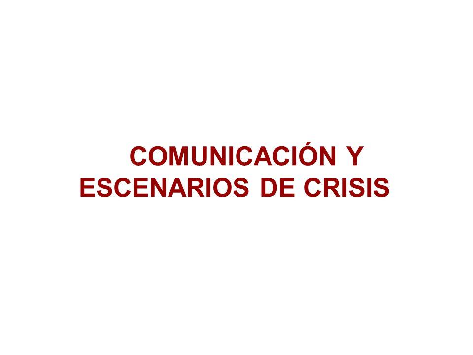 Antecedentes Las crisis se originan por un error en la percepción del poder de la comunicación por parte de los dueños de la empresa o por sus administradores.